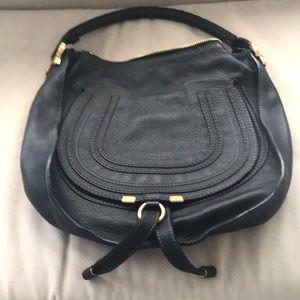 Authentic Chloe Marcie black satchel